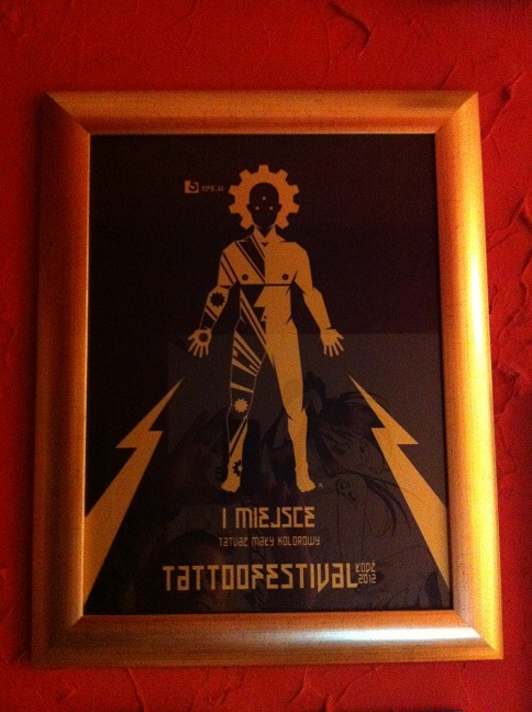 I miejsce tatuaż mały kolorowy - Łódź 2012