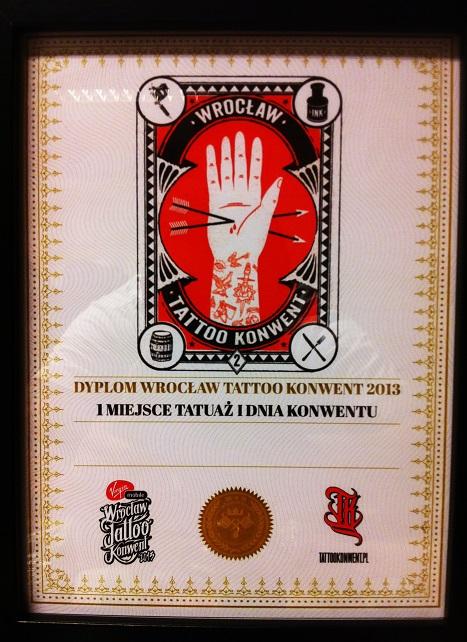 I miejsce - Tatuaż Pierwszego Dnia Konwentu - Wrocław 2013